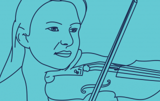 Violinist Illustration