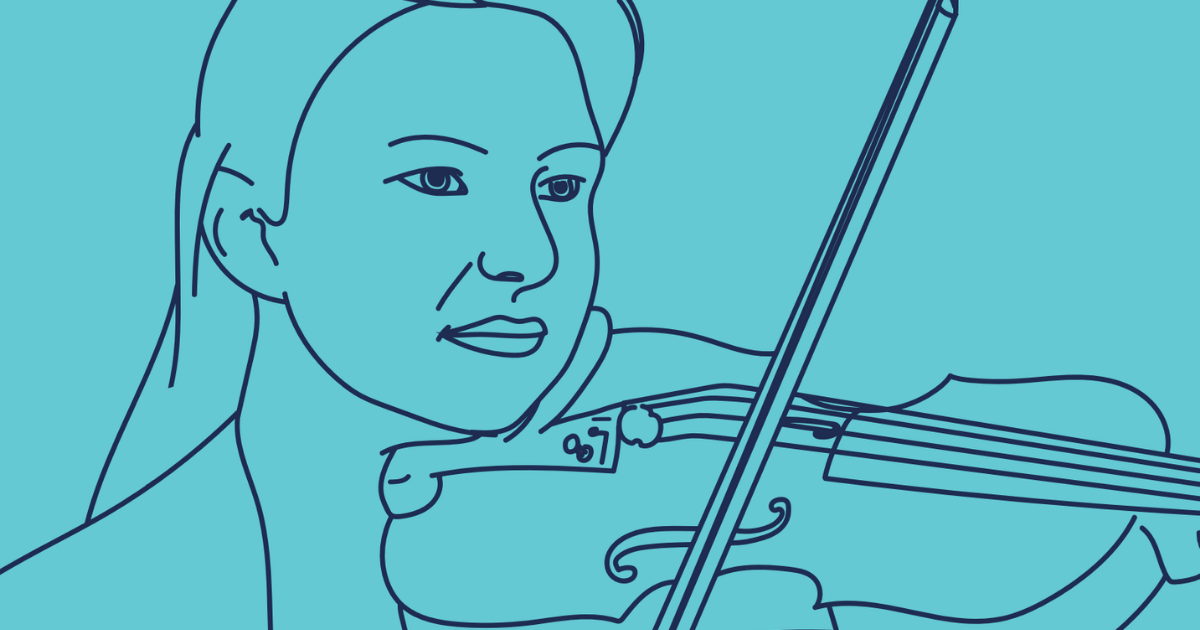 Violinist Illustration
