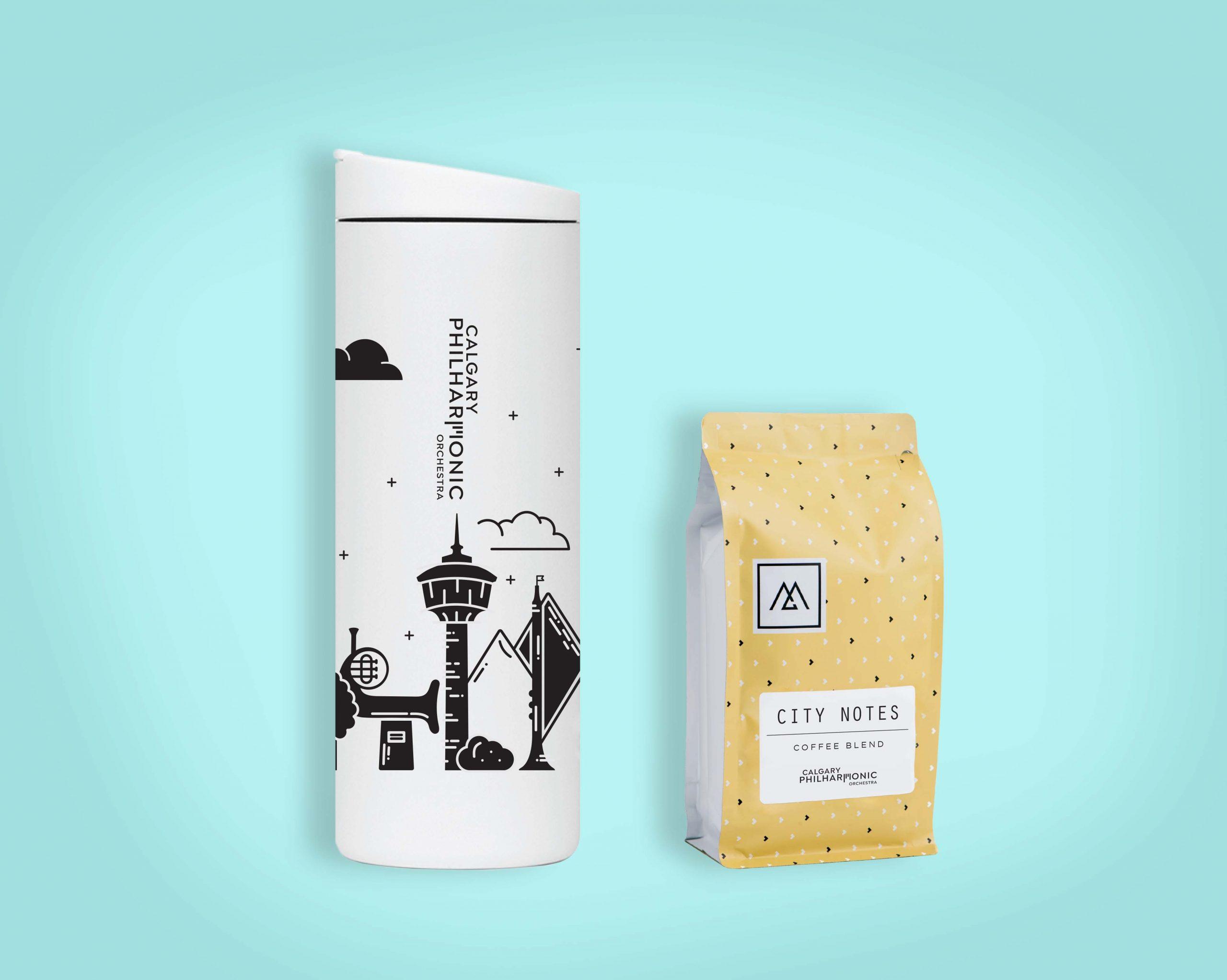 City Notes Tumbler + Coffee   $44